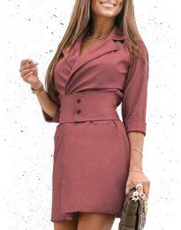 Šaty - kód 1356 - pudrová