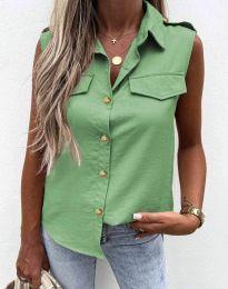 Дамска лятна риза в зелено - 6598