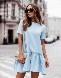 Šaty - kód 11890 - světle modrá