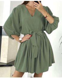 Šaty - kód 6210 - olivová  zelená