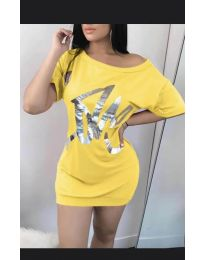 Šaty - kód 1100 - žlutá