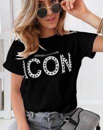 Tričko - kód 4357 - černá