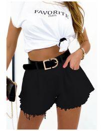 Krátké kalhoty - kód 4563  - 1 - černá
