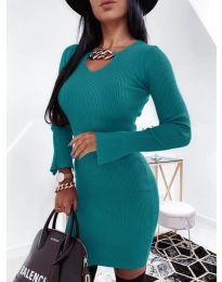 Šaty - kód 5666 - tyrkysový