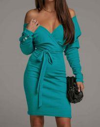 Šaty - kód 4765 - tyrkysový