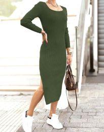 Šaty - kód 2326 - olivově zelená