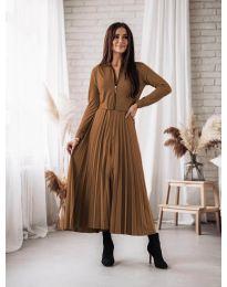 Šaty - kód 1544 - hněda
