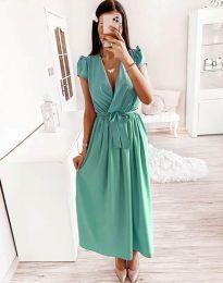 Šaty - kód 2455 - 2 - tyrkysový