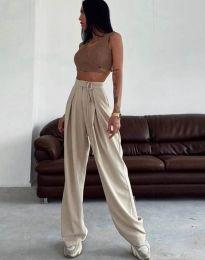 Kalhoty - kód 1428 - 1 - bežová
