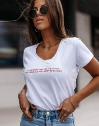 Tričko - kód 4457 - bíla