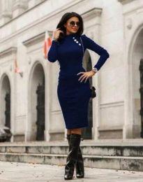 Šaty - kód 9768 - 2 - modrá