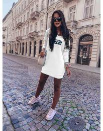 Šaty - kód 6368 - bílá