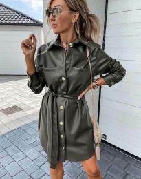 Šaty - kód 2186 - olivová  zelená