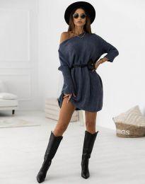 Šaty - kód 6940 - modrá