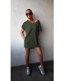 Šaty - kód 3080 - olivová  zelená