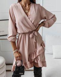 Šaty - kód 5371 - pudrová