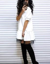 Šaty - kód 2856 - bílá