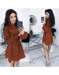 Šaty - kód 6364 - hněda