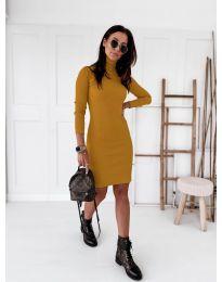Šaty - kód 5696 - hořčičná