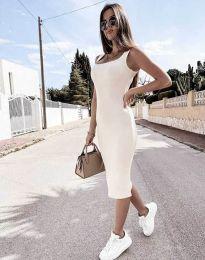 Šaty - kód 5964 - bílá