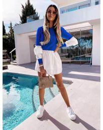 Šaty - kód 5024 - 4 - modrá