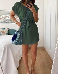 Šaty - kód 2258 - olivově zelená