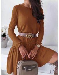 Šaty - kód 350 - hněda