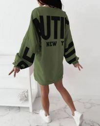 Šaty - kód 1748 - olivová  zelená