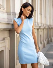 Šaty - kód 10044 - světle modrá