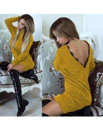 Šaty - kód 0502 - hořčičná