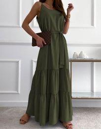 Šaty - kód 2578 - olivová  zelená