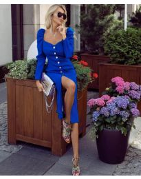 Šaty - kód 4418 - modrá