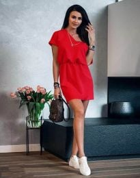Šaty - kód 3214 - červená