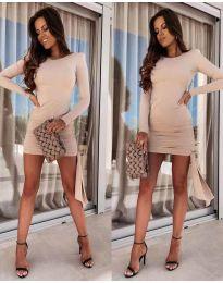 Šaty - kód 6515 - bežová