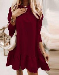 Šaty - kód 9376 - bordeaux