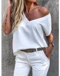 Tričko - kód 0589 - bílá