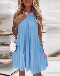 Šaty - kód 0889 - světle modrá