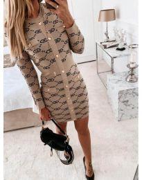 Šaty - kód 0598 - bežová