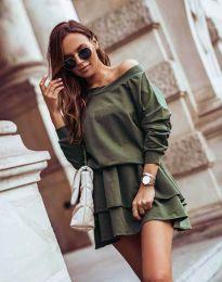 Šaty - kód 0525 - olivově zelená