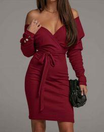 Šaty - kód 4765 - bordeaux