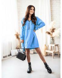 Šaty - kód 6113 světle modrá