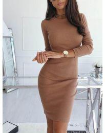 Šaty - kód 3524 - hněda