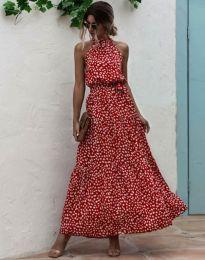 Šaty - kód 6214 - červená