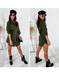 Šaty - kód 976 - olivová  zelená