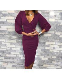 Šaty - kód 8706 - 3 - tmavě fialová
