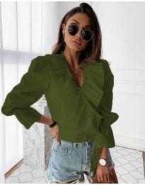 Košile - kód 1167 - olivová  zelená