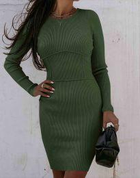 Šaty - kód 0891 - olivová  zelená