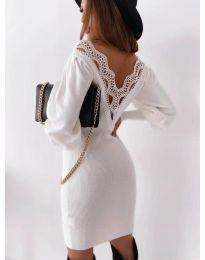 Šaty - kód 1718 - bílá