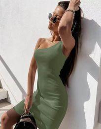 Šaty - kód 6412 - olivově zelená