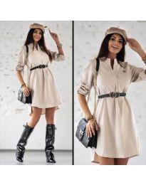 Šaty - kód 9601 - bežová